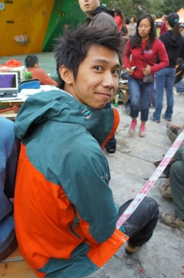 KAILAS攀登队员、香港抱石高手何善挥在阳朔