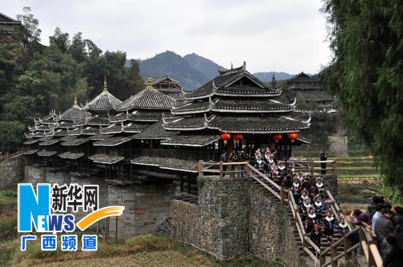 #(晚报)(1)广西三江程阳风雨桥迎来建桥百年